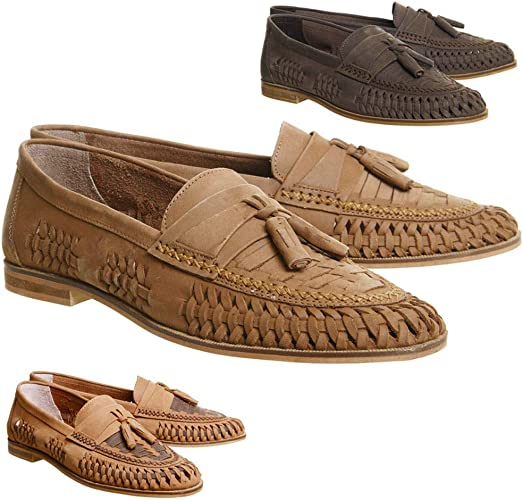 Boy/'s Slip On Casual Loafers Round soft Toe Flats Genuine Suede Shoes