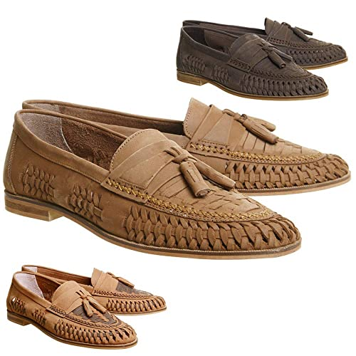 1a7b8ce36faf6 Mens Gents Boys Brixton Bow Finsbury Weave Slip On Tassle Real Leather Suede  Boat Shoes Summer