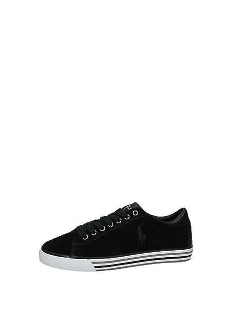 Polo Ralph Lauren zapatos zapatillas de deporte hombres en ante nuevo gris: Amazon.es: Zapatos y complementos