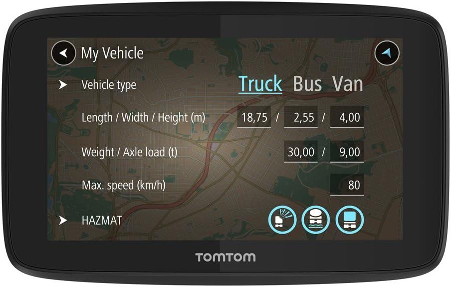 TomTom GO Professional 620, Navegación Profesional para Vehículos Grandes, Tomtom Traffic para toda la vida a traves de Smartphone, 6 pulgadas,  Negro