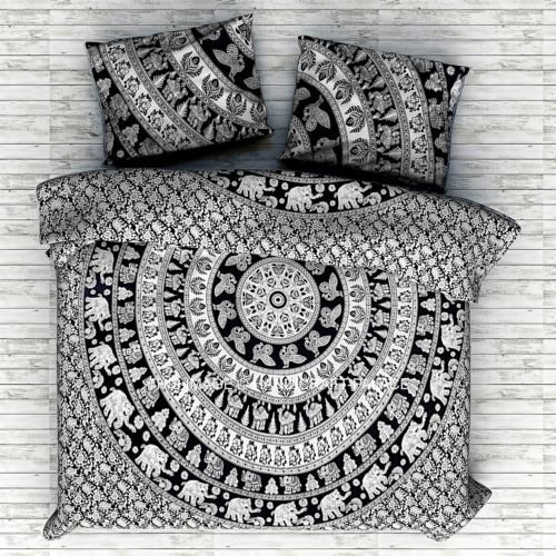Indian Mandala Bed Sheet Bedding Cotton Twin Size Bedspread Handmade Bedding Set