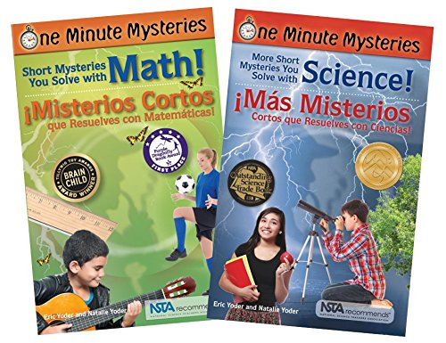 Bilingual Science and Math Mysteries Book Set (One Minute Mysteries)