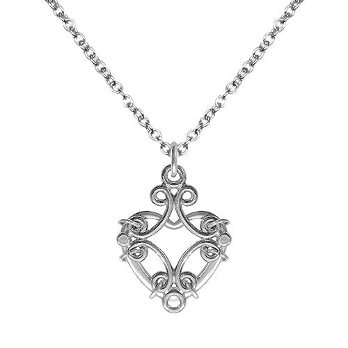 Amazon.com: Único de plata imponente collar con colgante de ...