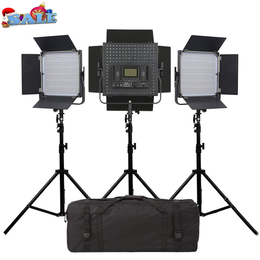 Dazzne Led Video Light Kit, Led Video Lights 1 Light Control N Light with Power Adapter and Light Stand for Studio Lighting,YouTube,Product Photography,Video Shooting,3200-5600K 4800LM 40W
