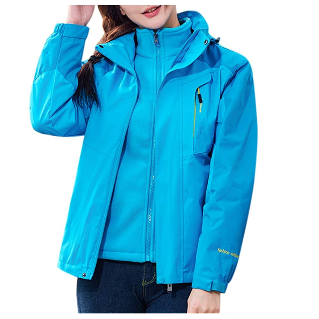 Ultramall Women Waterproof Sweatshirt Detachable Breathable Sport Outdoor Coat Jacket by Ultramall