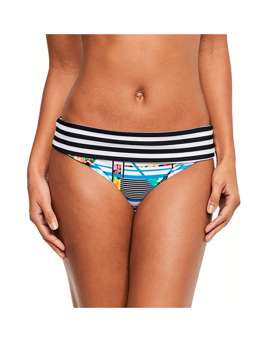 Figleaves Womens Puzzle Fold Brief