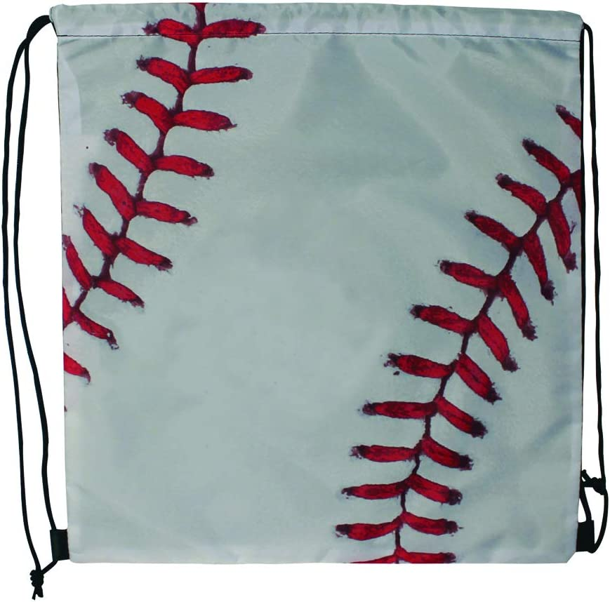 Sports Drawstring Backpack, Baseball, for your gym class and sports teams - Set of 6