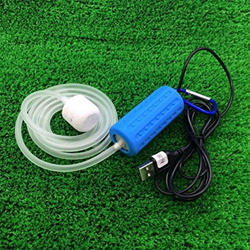 - Aoile Portable Ultra Silent Air Pump£¬Mini USB Aerator Aquarium Fish Tank Pond Pump Hydroponic Oxygen Mute Energy Saving Supplies Accessories by (blue)