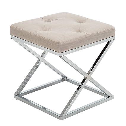 Amazon Com Upholstered Vanity Stool Footrest Stool Small Ottoman