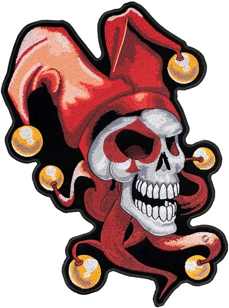Ghost Patch Iron On Patches Patches for Jackets x 10 cm Cool Badge Size 8 cm W Devil Patch H Cap Jeans