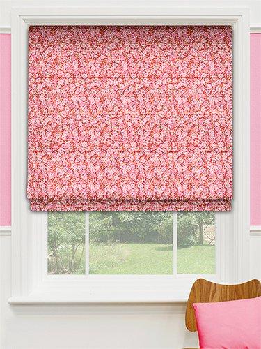 Pippa Poppy Red Roman Blind Amazon Co Uk Kitchen Home