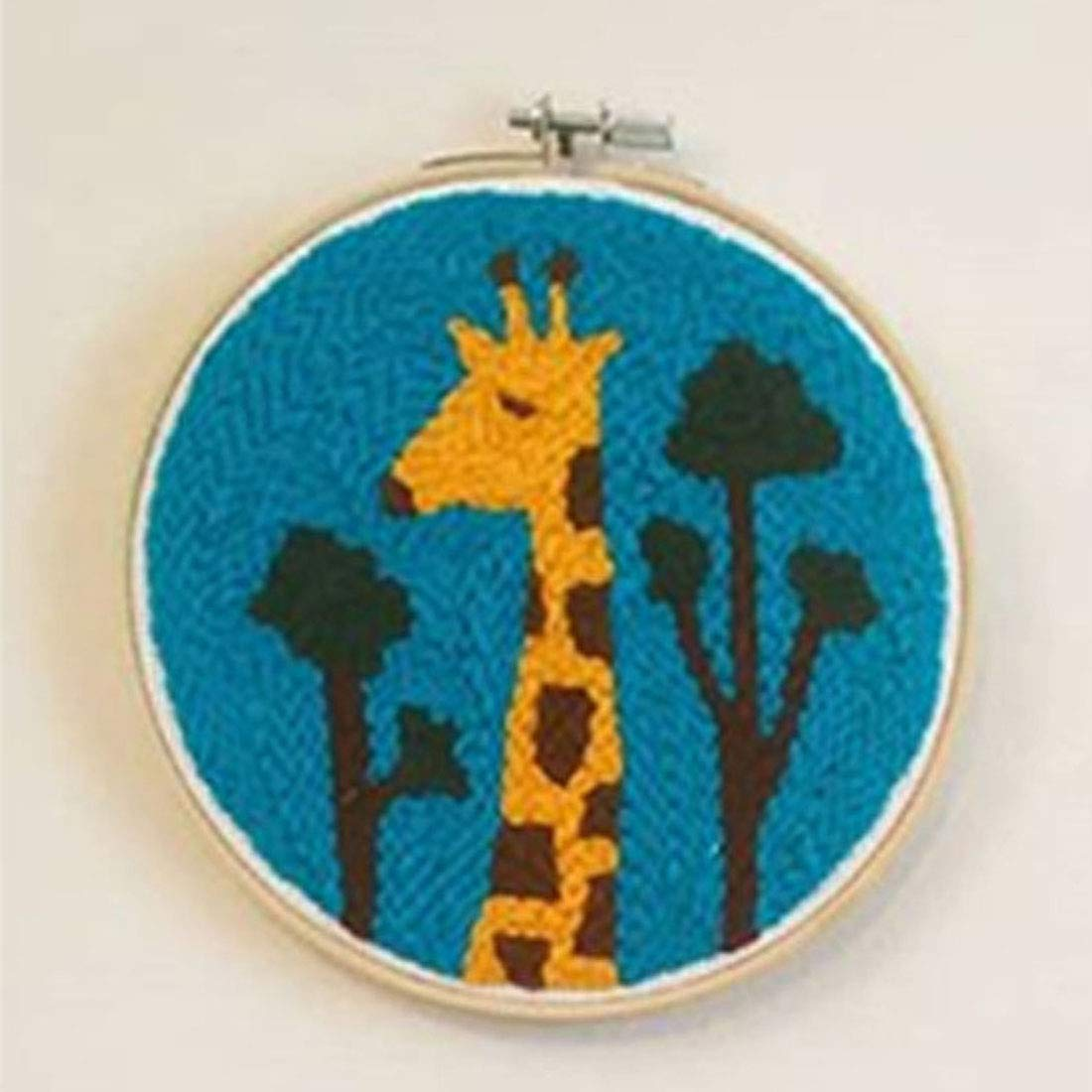 Geometry Embroidery Frame Creative Gift with 24 x 24cm Embroidery Frame Punch Needle HMANE DIY Rug Hooking Kit Handcraft Woolen Embroidery Knitting with Punch Needle