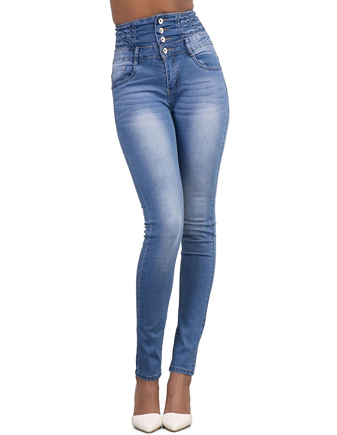 BABAKUD Women's High Waisted Skinny Stretch Jeans