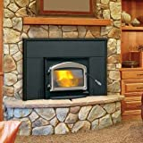 Wood Burning Fireplace Insert - Metallic Black