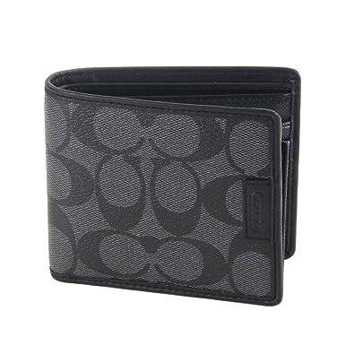 618fc017b123 Amazon.com  Coach Men Chelsea Signature Compact ID Billfold Wallet 74736 Charcoal  Black  Shoes