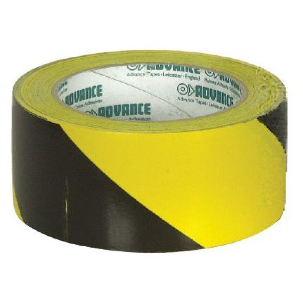 Ruban adhesif PVC bicolore jaune et noir