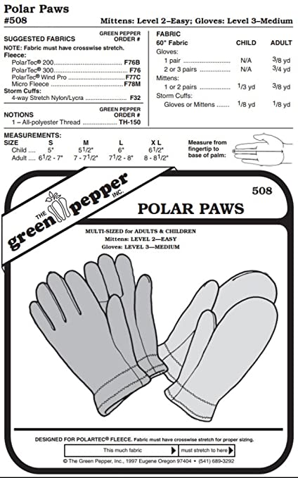 Amazon.com: Polar Paws #508 For Adults and Children Gloves Mittens ...