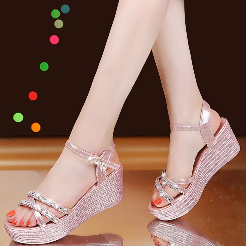 d837a42a236d Amazon.com  Kiminana Women s Wedding Sandals Crystal Beaded Bohemian Dress  Gladiator Shoes Plus-Size  Clothing