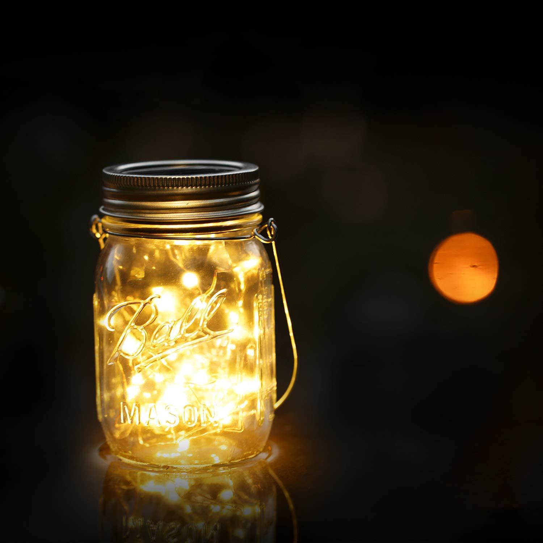 30 LED Lanterne da Esterno,Lanterna Solare,Luci Solari Giardino,Lanterna da Campeggio,Lampade Decorazioni Cerimonia 4 pezzi