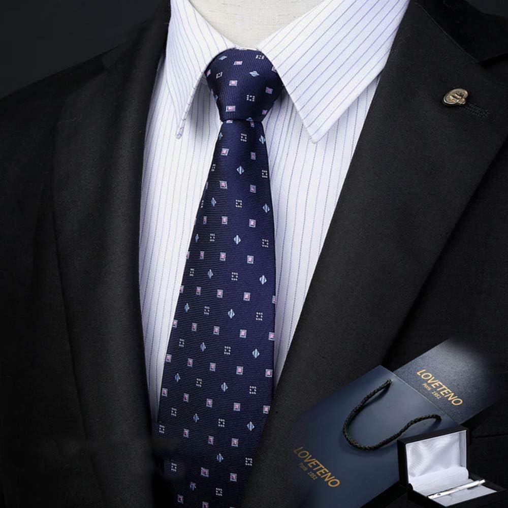 Corbata de los Hombres Seda Ancho 8 / 9CM Moda Azul Impresión ...