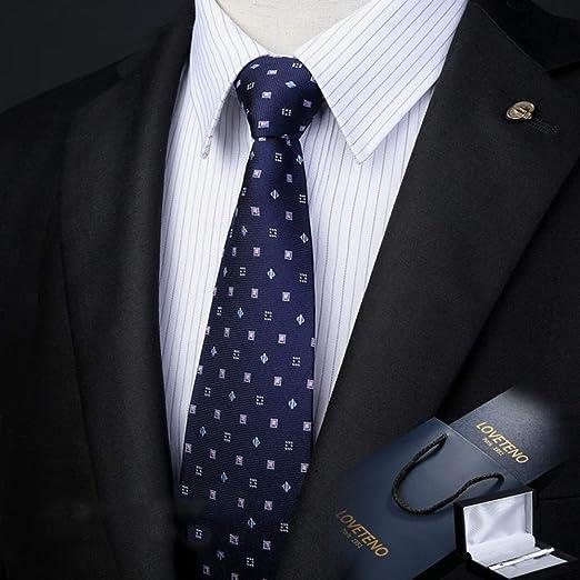 Corbata de los Hombres Seda Ancho 8 / 9CM Moda Azul Impresión a ...