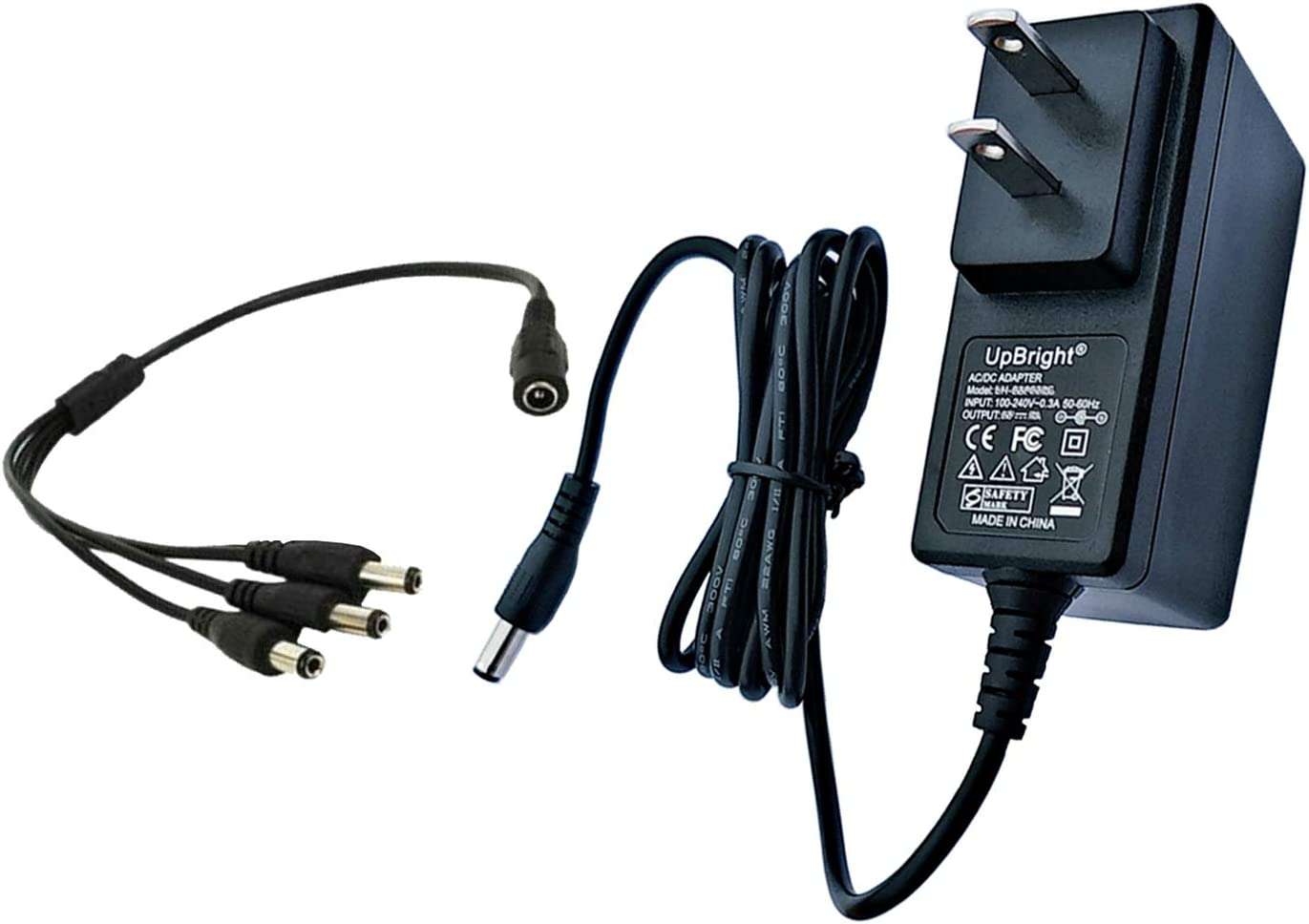 UpBright AC Adapter Compatible with Lemax Lighted Accessory 4.5V # 74707 74295 84428 44242 94565 94566 94527 94563 94564 44241 64517 74269 74274 Christmas Village Spooky Town 4.5VDC 5V DC Power Supply