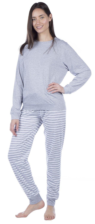 Nikaro Mesdames doux Coton Jogging Style Pyjama avec lilas yeux Masque:  Amazon.fr: Vêtements et accessoires