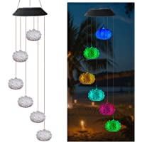 FORNORM Sea Urchin Solar Wind Chime Light LED