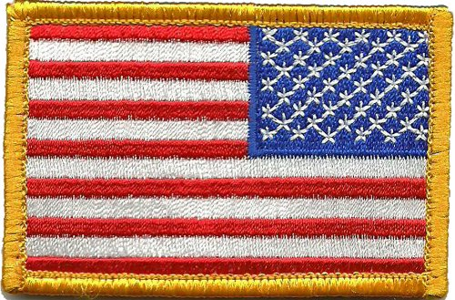 Tactical Reverse USA Flag Patch - Red White & Blue