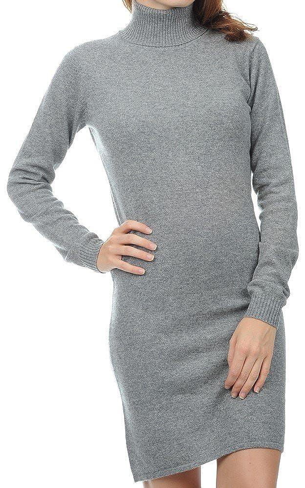 Balldiri 100/% Cashmere Damen Kleid Rollkragen  2-fädig grau XS