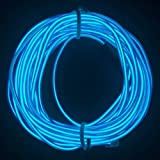 M.best 3M EL Wire Tube Rope Battery Powered Flexible Neon Light Car Party Wedding Decoration With Controller (Blue)