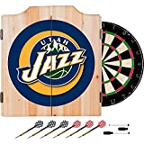 NBA Utah Jazz Wood Dart Cabinet Set