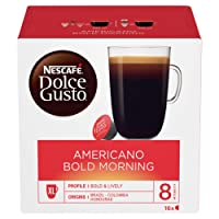 NESCAFÉ Dolce Gusto Americano Bold Morning Coffee Pods, 16 capsules (Pack of 3, 48 capsules in total)