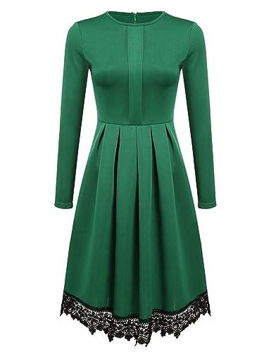 aceshin Donna Pizzo Vestito Lunghe Vintage