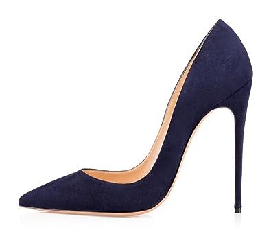 Chaussures à talon aiguille uBeauty bleues femme c2h2X