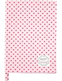 Krasilnikoff KW2281 Geschirrtuch - Küchtentuch - Trockentuch - rosa - Herzen rot - Baumwolle - 50x70 cm