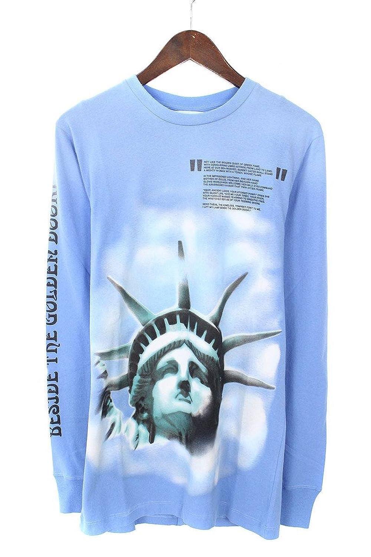 (オフホワイト) OFF-WHITE 【18AW】【BLUE LIBERTY L/S T-SHIRT】リバティープリント長袖カットソー(XS/ブルー) B07FQPND5J  -
