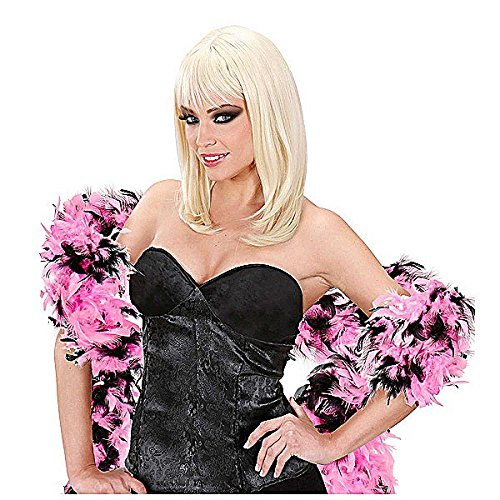 30s Dance Costumes (Feather Boa Bicol 180cm Pink/black Accessory For 20s 30s Dancing Flapper Moll)
