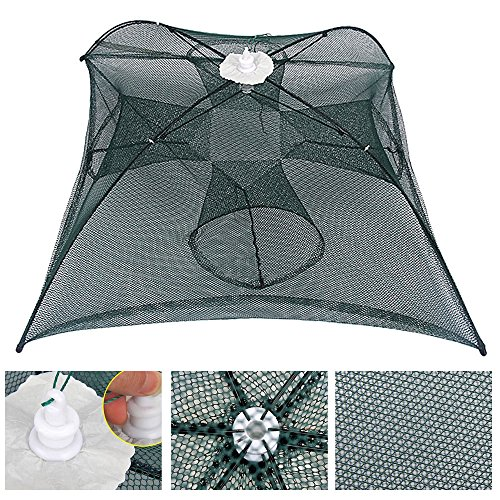 ded Umbrella Shape Fishing Net Fish Shrimp Crawdad Minnow Crayfish Crab Baits Cast Mesh Trap Fishing Tackle Tools (Pond Fishnet)