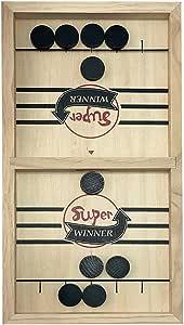 AWFAND Juegos de Mesa portátiles de Mesa de Madera para niños y familias, Juego de acción rápida Listo para Jugar, Juego de 2 Jugadores: Amazon.es: Juguetes y juegos