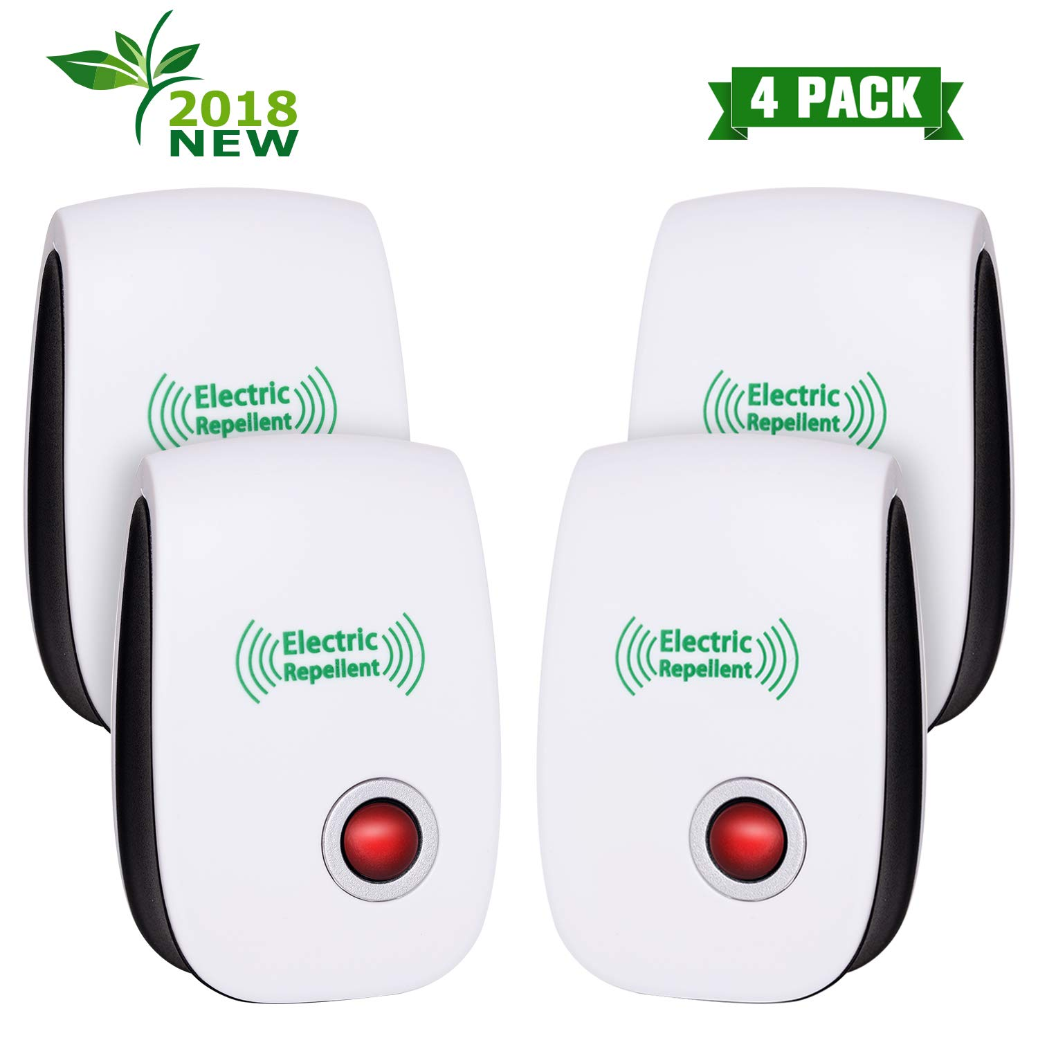 VEPOWER [2018 Upgraded] Ultrasonic Pest Repellent Electronic Mice Repeller, Plug in for Bugs and Insects Mice Ant Mosquito Spider Rodent Roach Child and Pets Safe Control (4 Packs) by VEPOWER