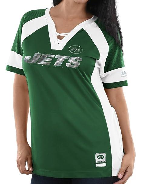 6ce519eb Amazon.com : New York Jets Women's Majestic NFL