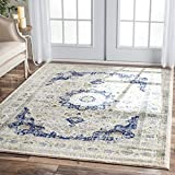 nuLOOM Traditional Persian Vintage Blue Square Rug (8  Square)
