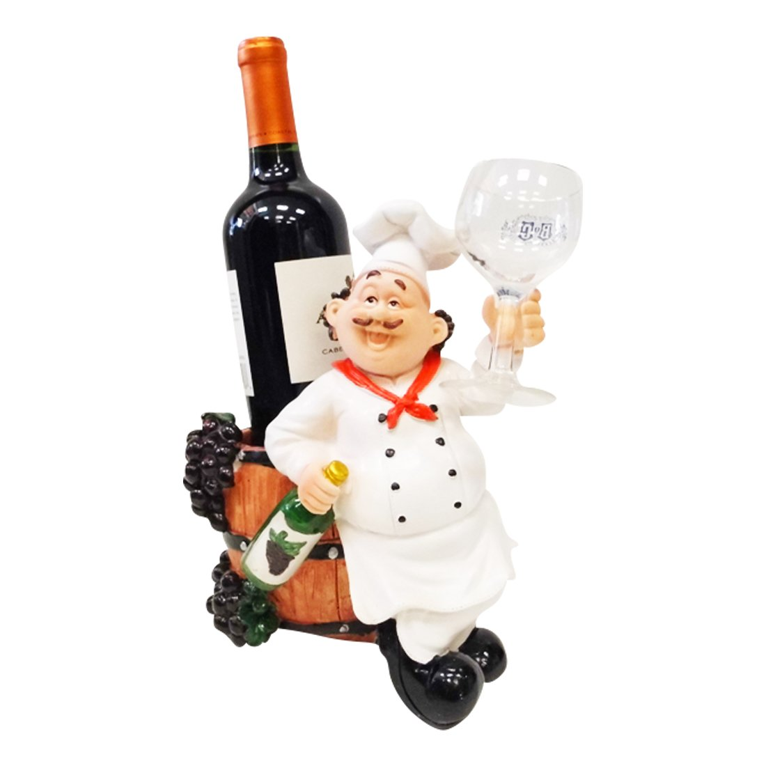 charming Chef Wine Holder Statue Part - 4: Amazon.com