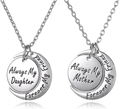 Amazon mothers day gifts 2 piece mother daughter necklace mothers day gifts 2 piece mother daughter necklace set always my mother aloadofball Choice Image