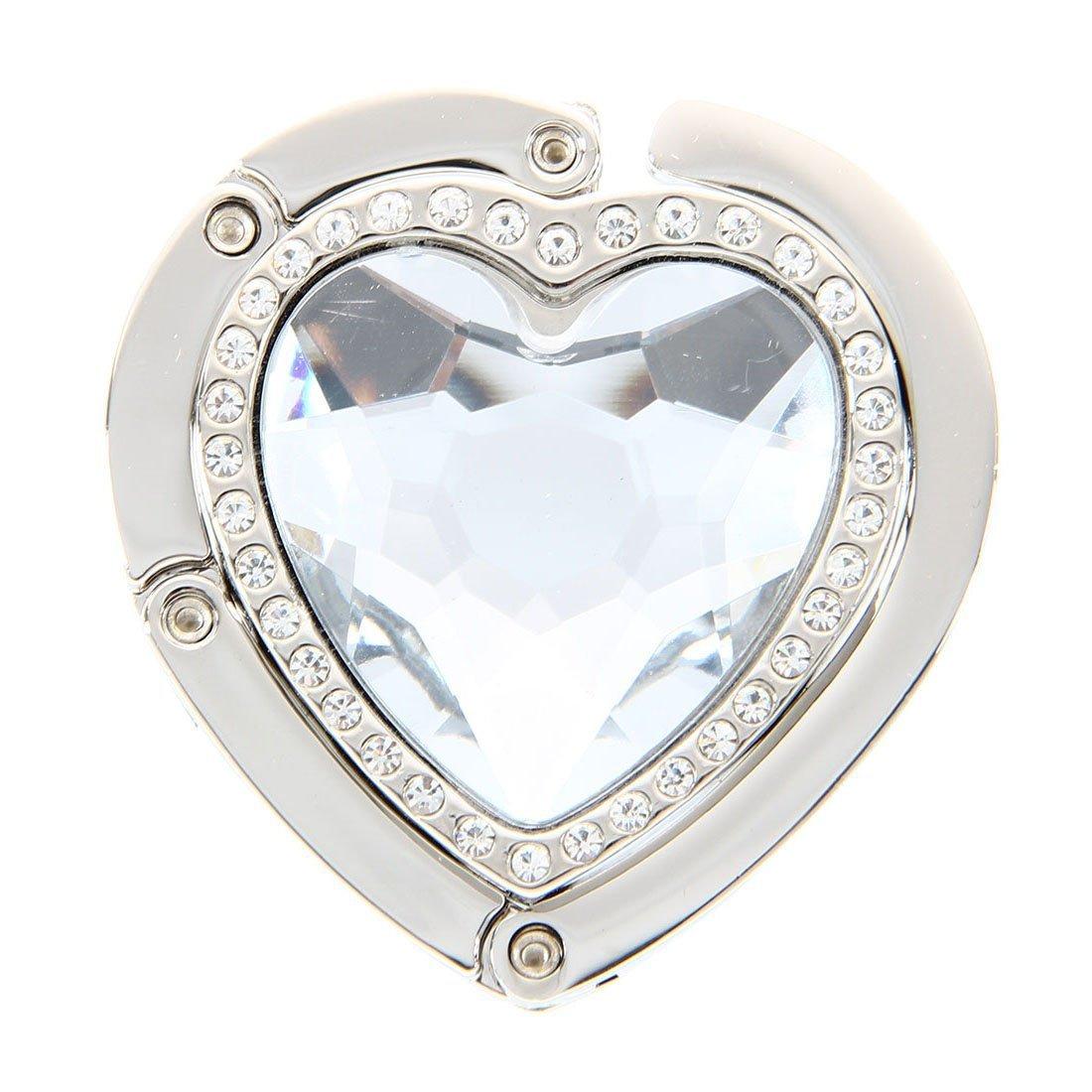 SODIAL(R) Forme de coeur pliable crochet pour porte-monnaie Sac a main sac LEPAZN3417