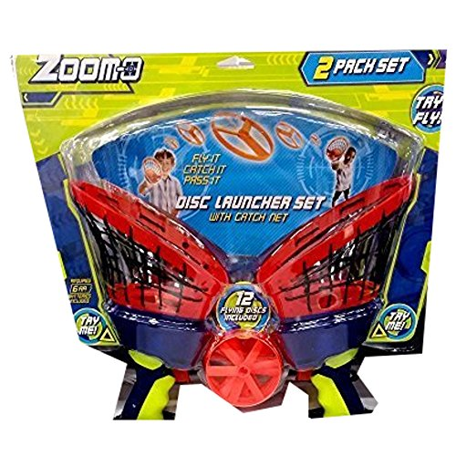 Zoom-O 2 Pack Disc Launcher Set (Colors Vary) Disc Launcher