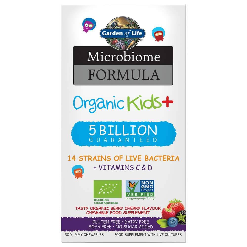 Garden of Life Microbiome Formula Kids+, 30 Chewables