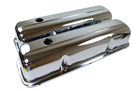 1957-76 Compatible/Replacement for Ford Big Block FE 352-390-406-427-428  Steel Valve Covers - Chrome