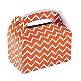Orange Chevron Treat Boxes (12 Pack) Paper. 6'' X 3 3/4'' X 6''